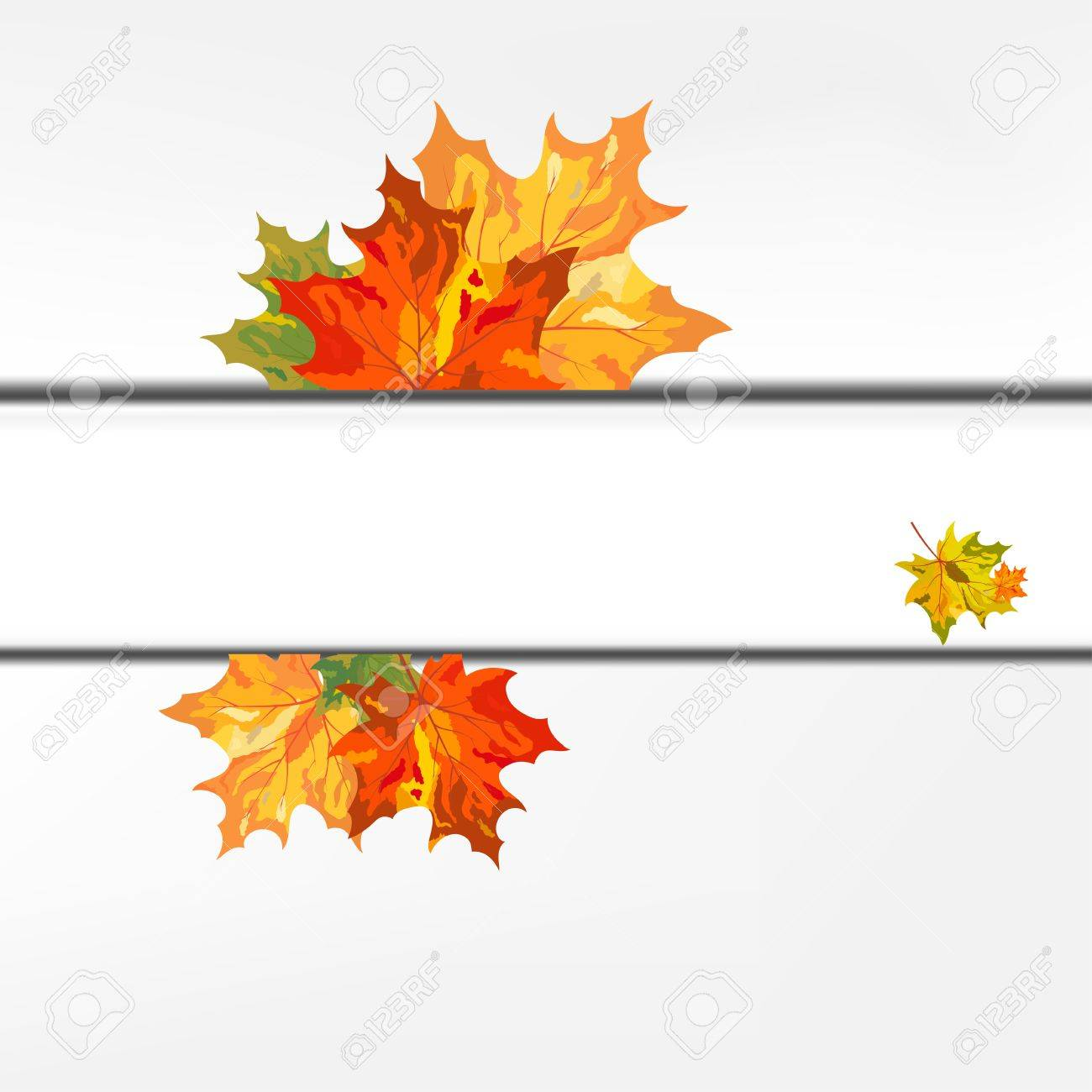 Autumn Color Maple Leaves Frame. Illustration. Royalty Free Cliparts ...