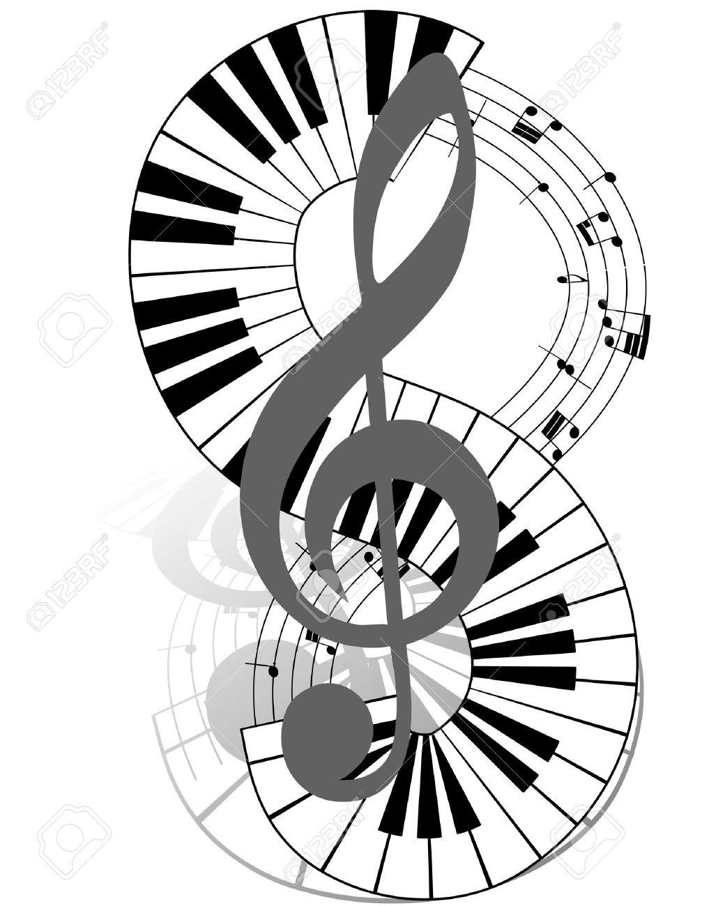 Note Musique Sur Clavier Piano Clavier Piano Les Notes de