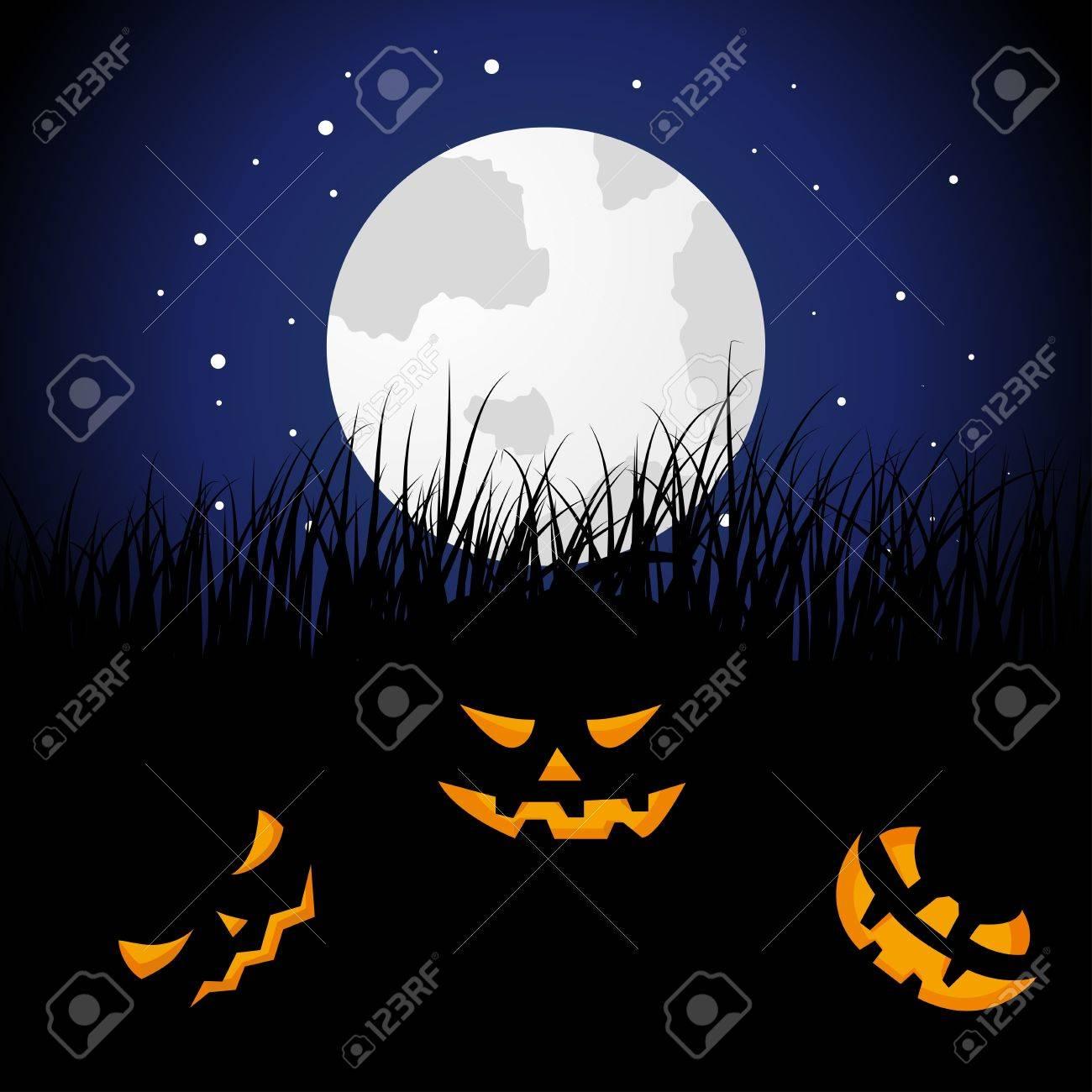 Happy halloween theme greeting card. illustration. Stock Vector - 15315210