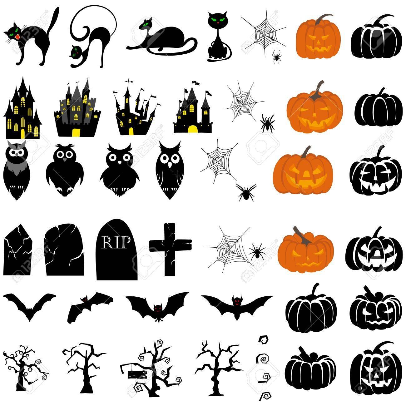 Happy Halloween theme icon set Stock Vector - 15548095