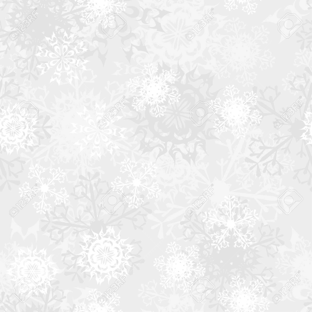Seamless snowflake patterns. Fully editable illustration. Stock Vector - 16571572
