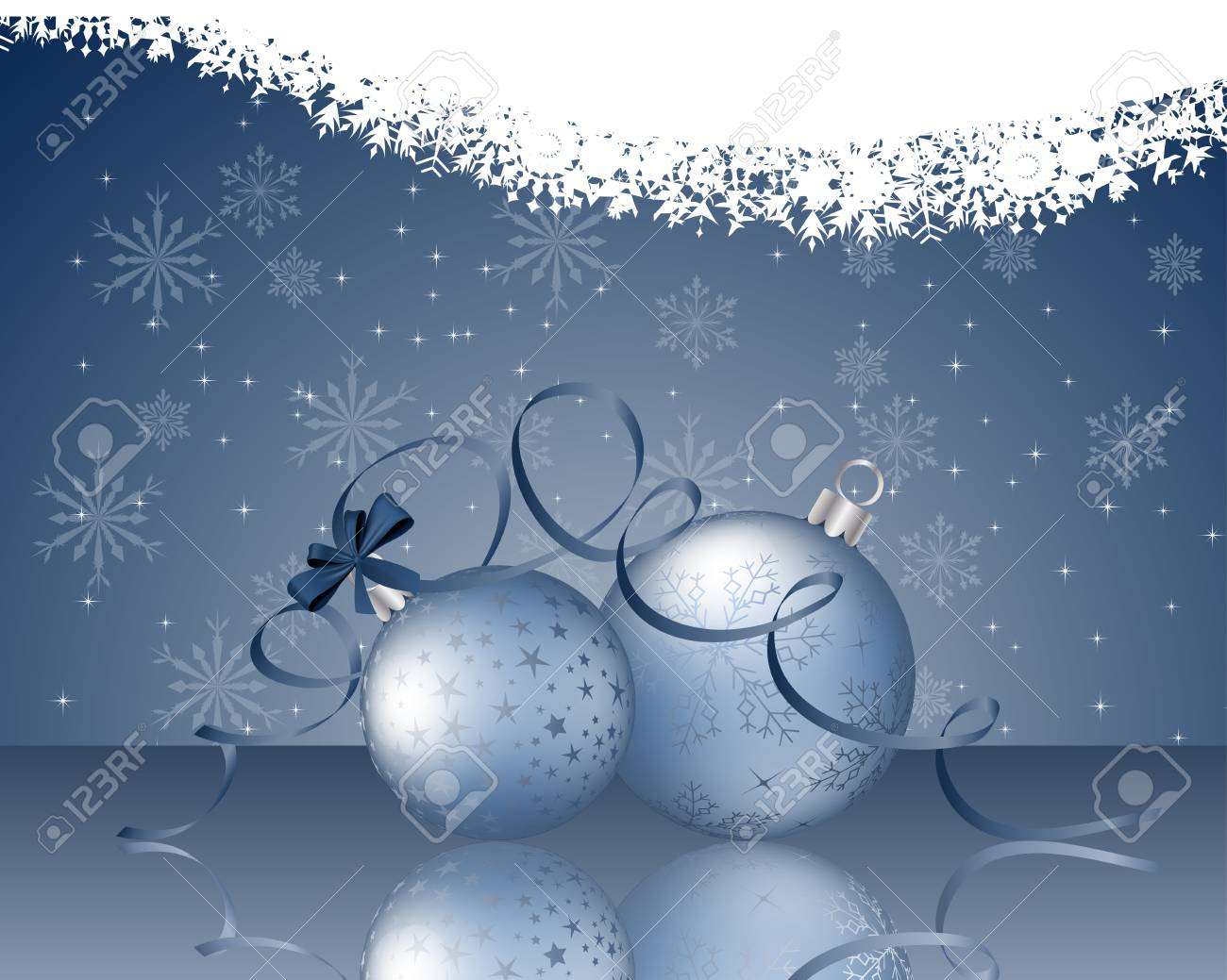 Beautiful Christmas (New Year) card. Vector illustration with transparency and mesh Stock Vector - 16641788