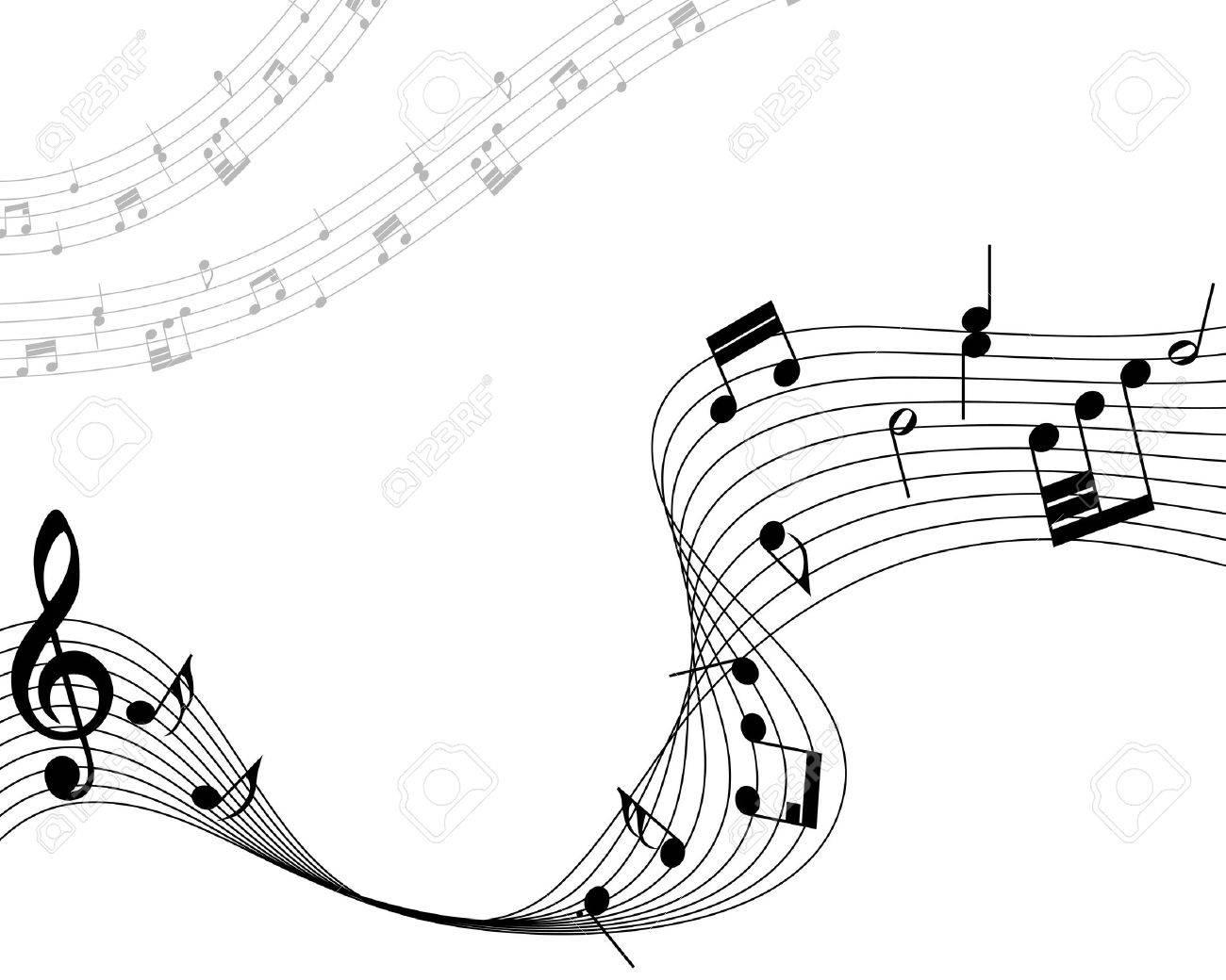 音符のスタッフ ベクトル イラスト透明効果なし のイラスト素材 ベクタ Image