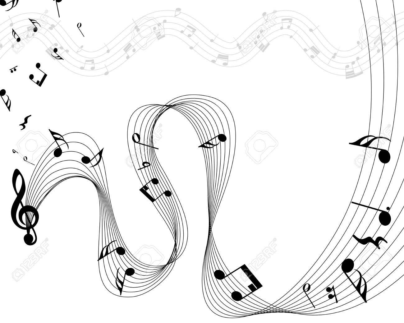 透過でない音符スタッフ イラストのイラスト素材ベクタ Image 20328305