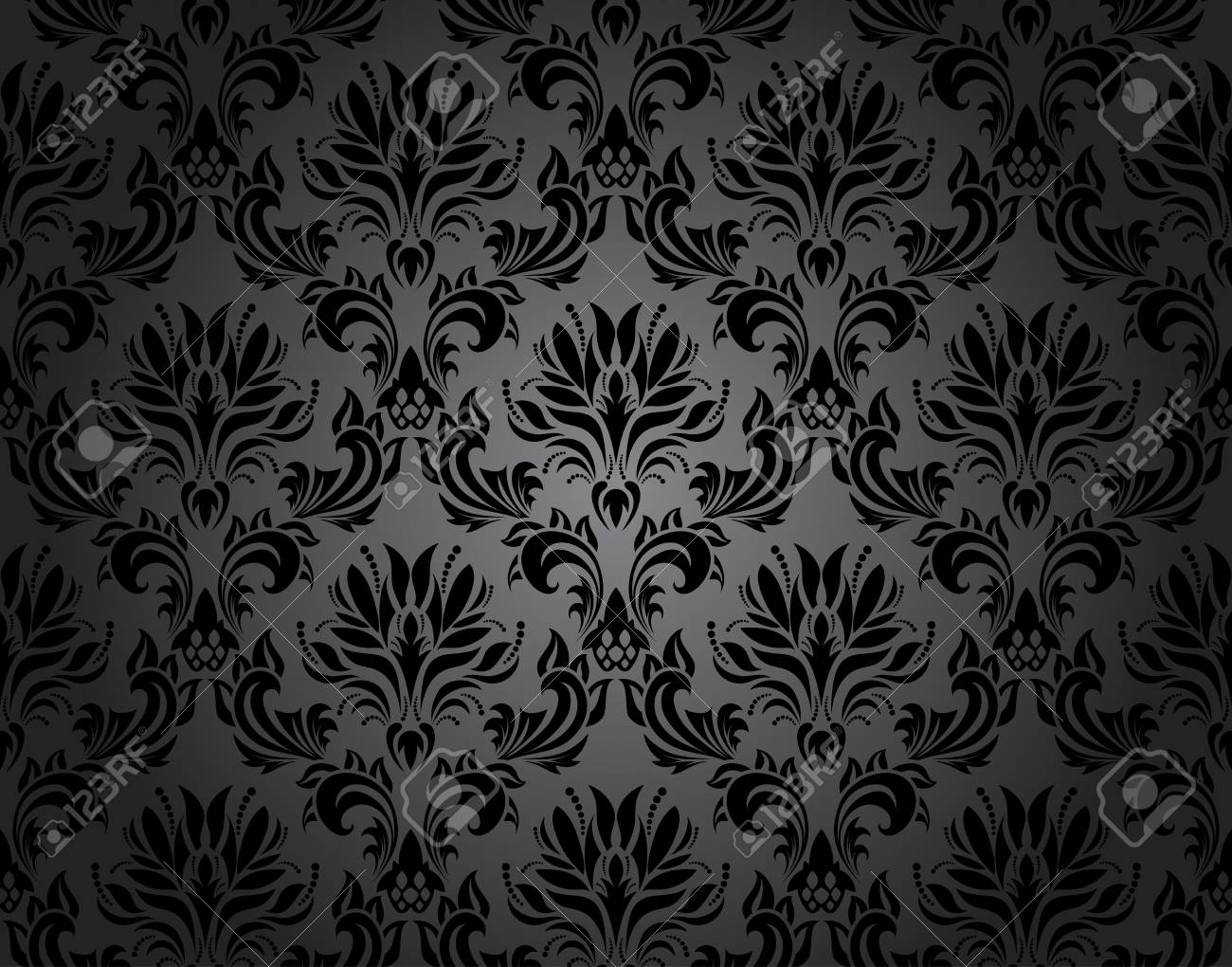 Damask seamless vector pattern.  For easy making seamless pattern just drag all group into swatches bar, and use it for filling any contours. Stock Vector - 22972232