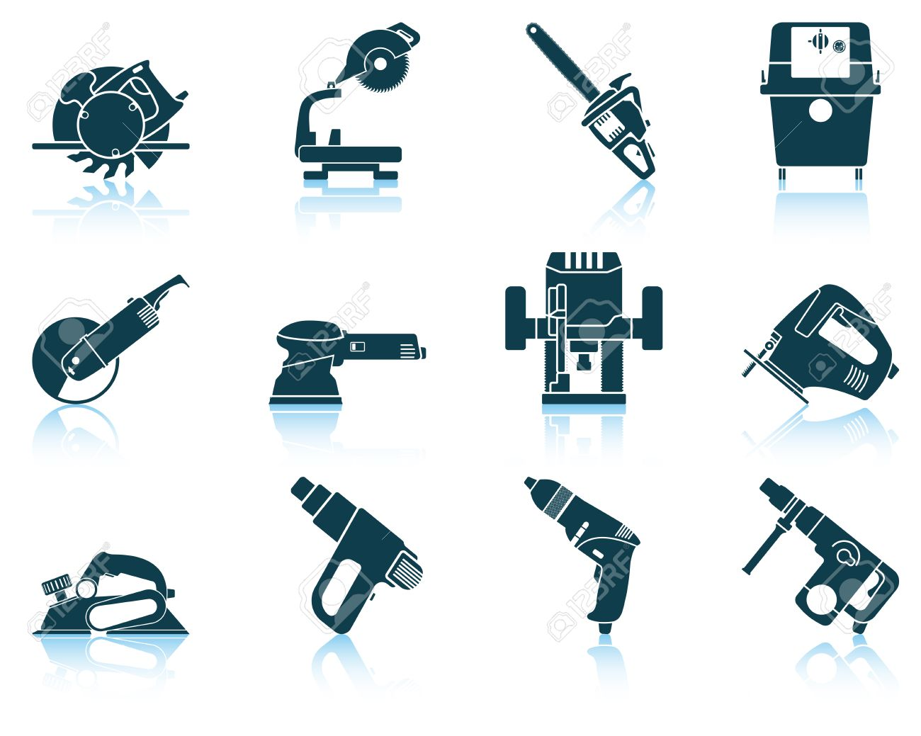 tool icon vector. set of electrical work tool icon vector illustration without transparency stock 40621088