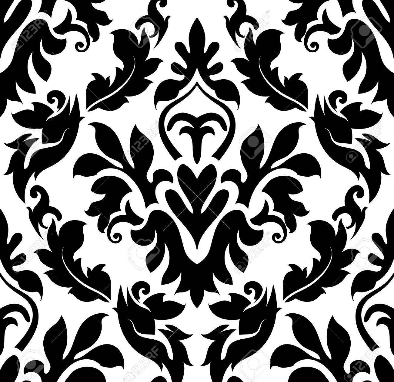 damask seamless pattern eps 10 vector illustration without