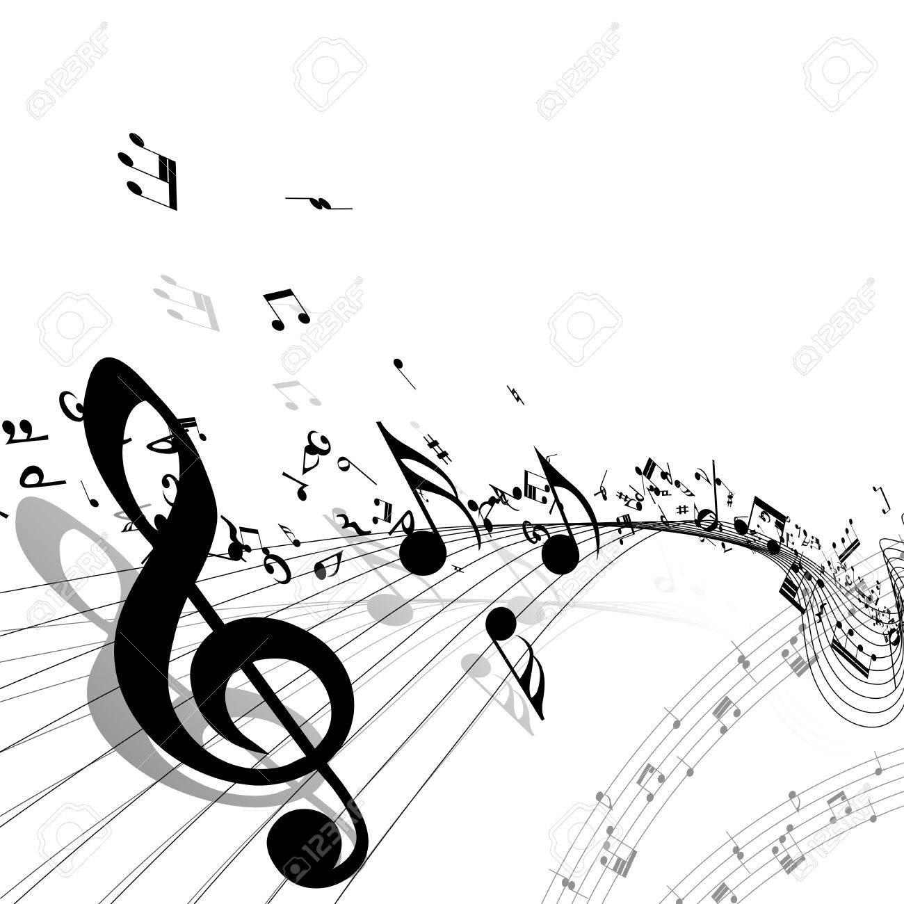 音楽的背景。透過でないベクトル イラスト。 ロイヤリティフリークリップ