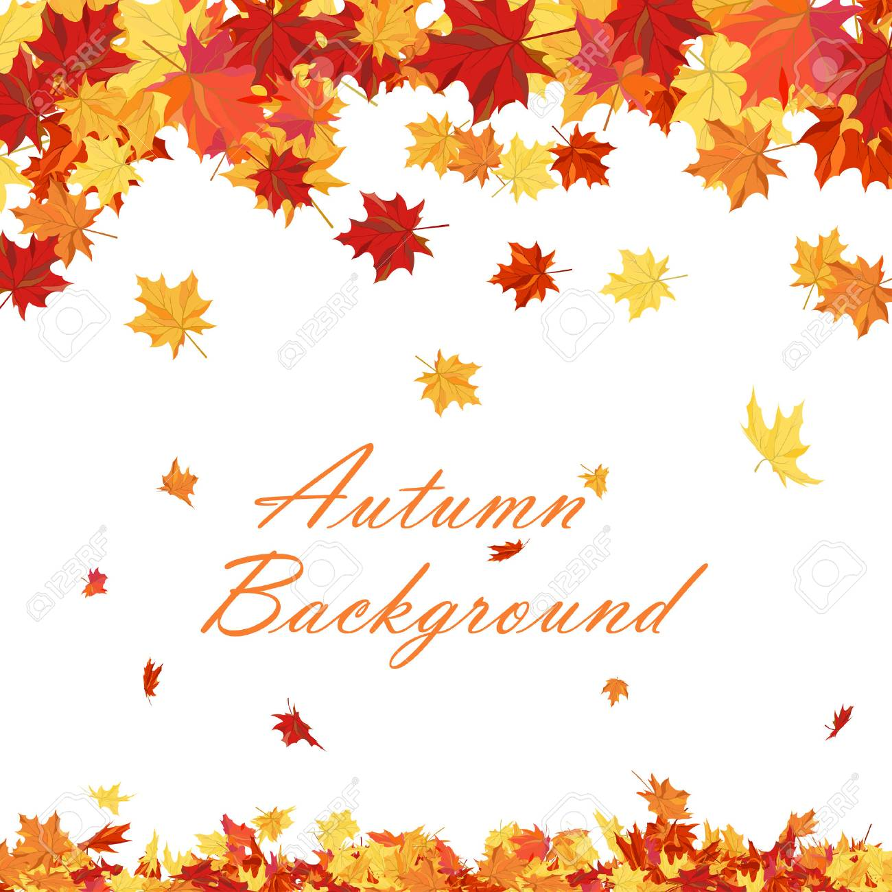 Autumn copy-space frame with maple leaves - 43156739