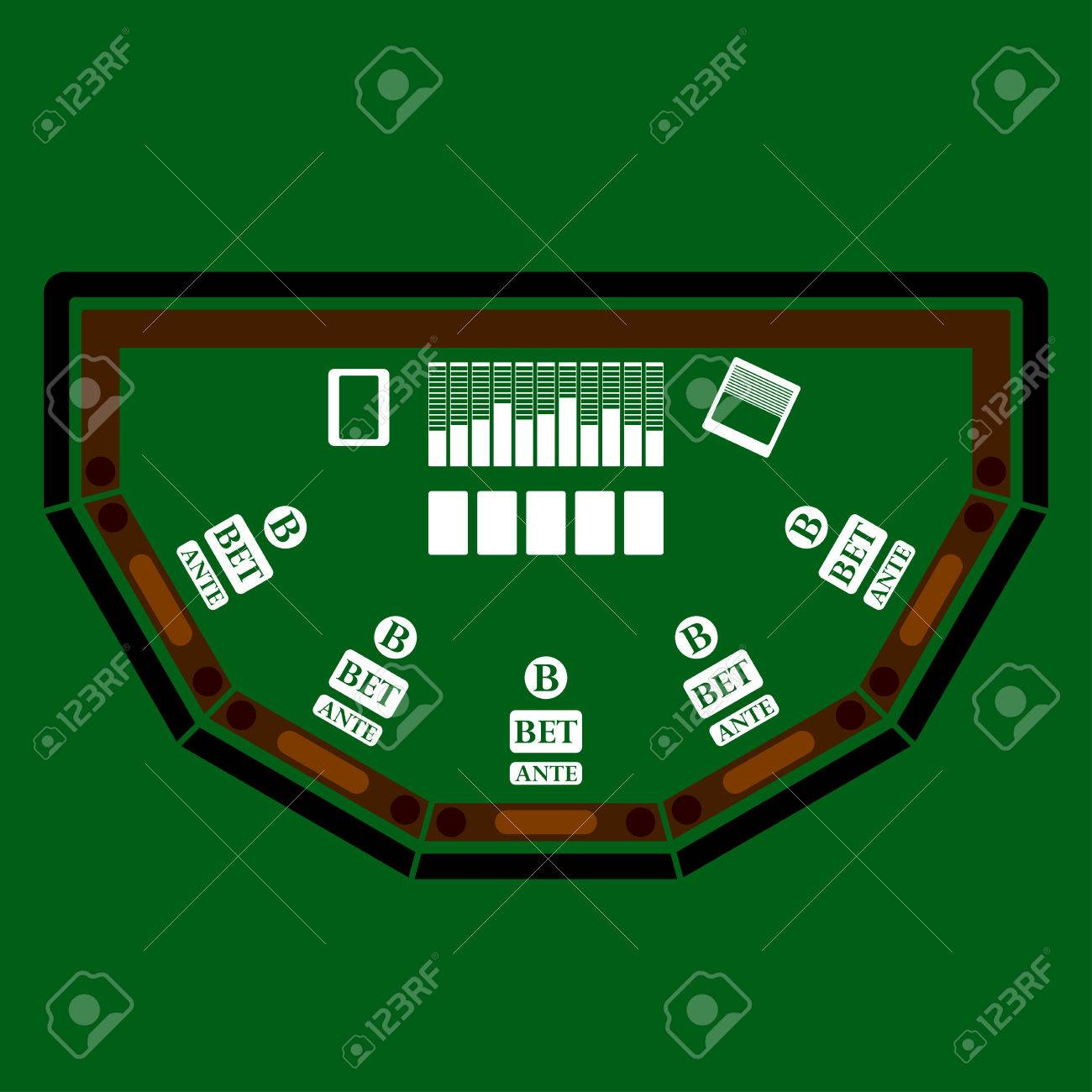Poker table background - Poker Table Icon Over Green Background Vector Illustration Stock Vector 45889994