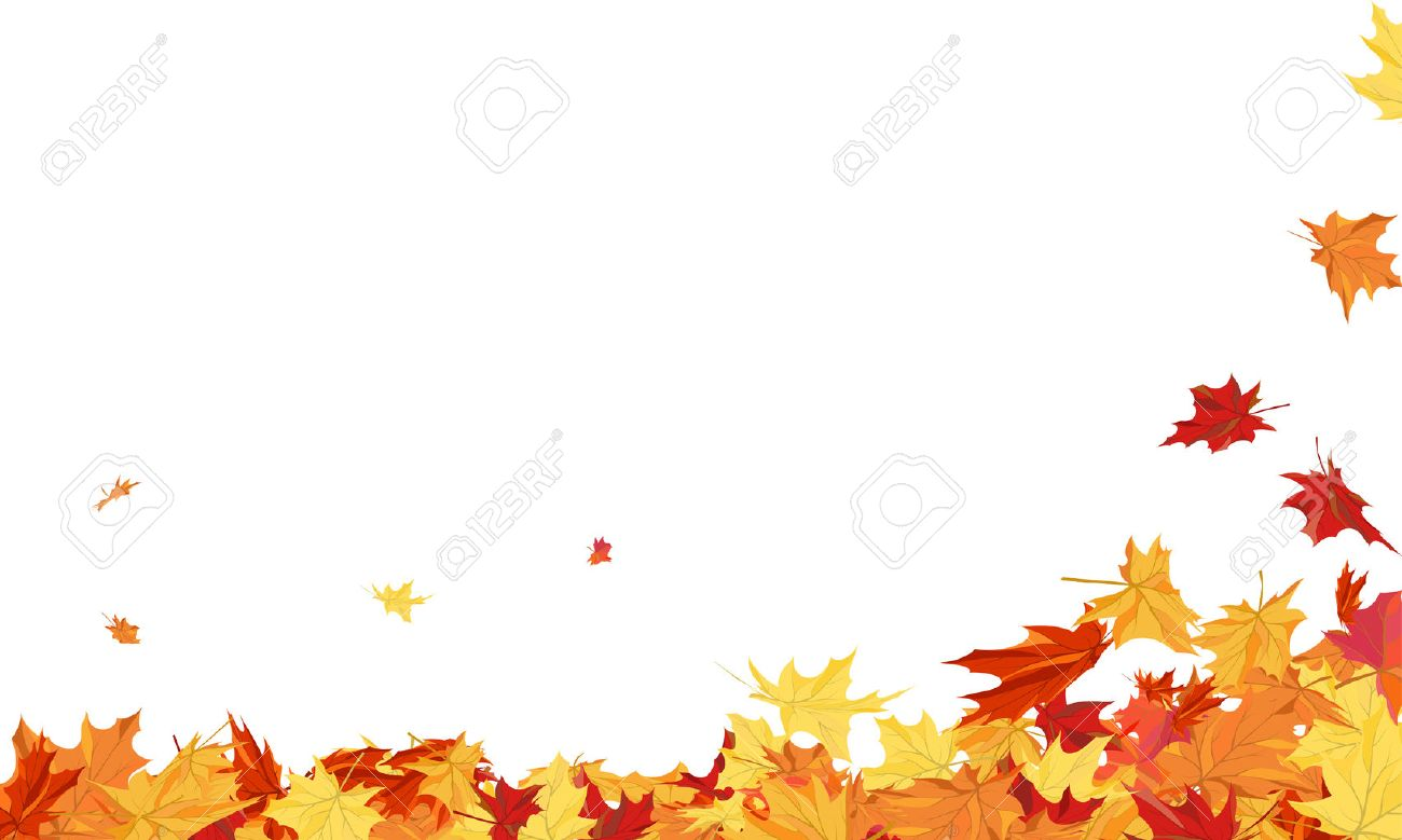 Autumn Frame With Blowing Maple Leaves Over White Background. - 46658480