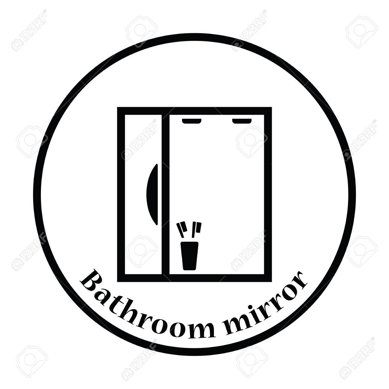 Amazing Small Corner Mirror Bathroom Cabinet Thick Walk In Shower Small Bathroom Square Bath Tub Mat Towel Delta Bathtub Faucet Removal Youthful Can You Have A Spa Bath When Your Pregnant WhiteBathroom Direction According To Vastu Bathroom Mirror Icon. Thin Circle Design. Vector Illustration ..
