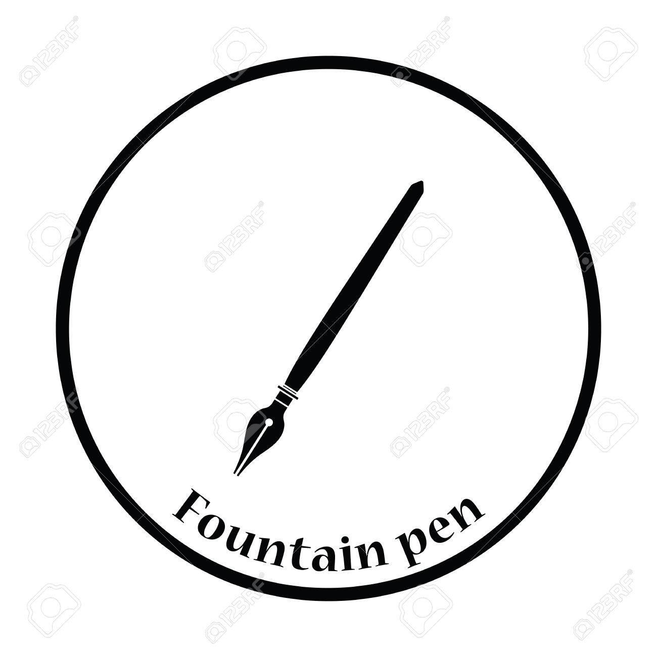 Fountain pen icon thin circle design vector illustration fountain pen icon thin circle design vector illustration stock vector 59601922 biocorpaavc Choice Image
