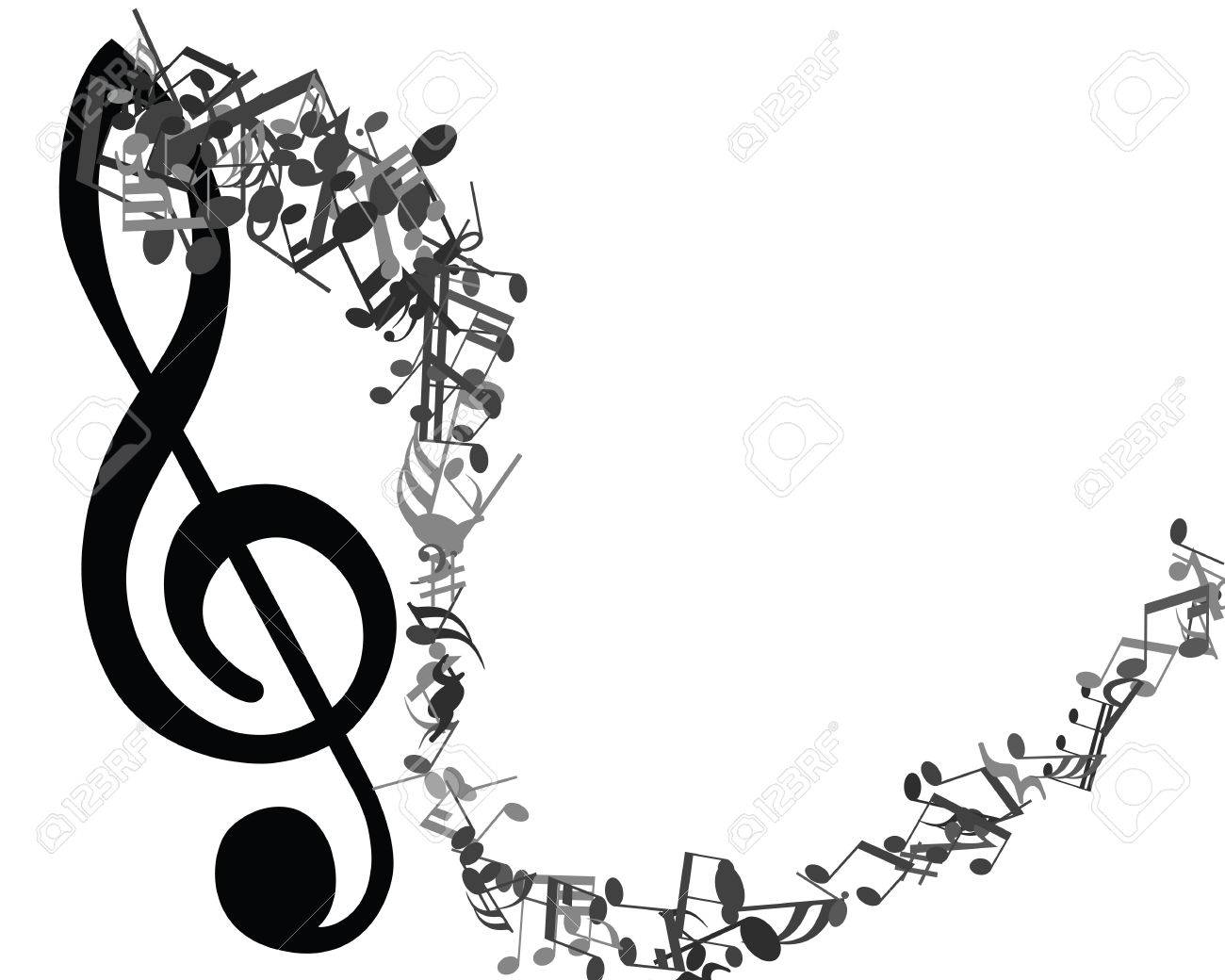music staf tirevi fontanacountryinn Sample Resume for College Music black and white musical design from music staff elements with