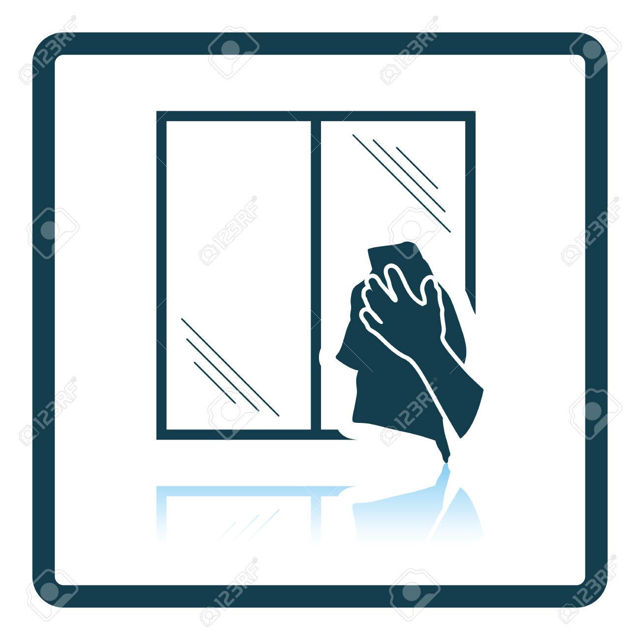 438e661a9e0 Hand wiping window icon. Shadow reflection design. Vector illustration. Stock  Vector - 60245944