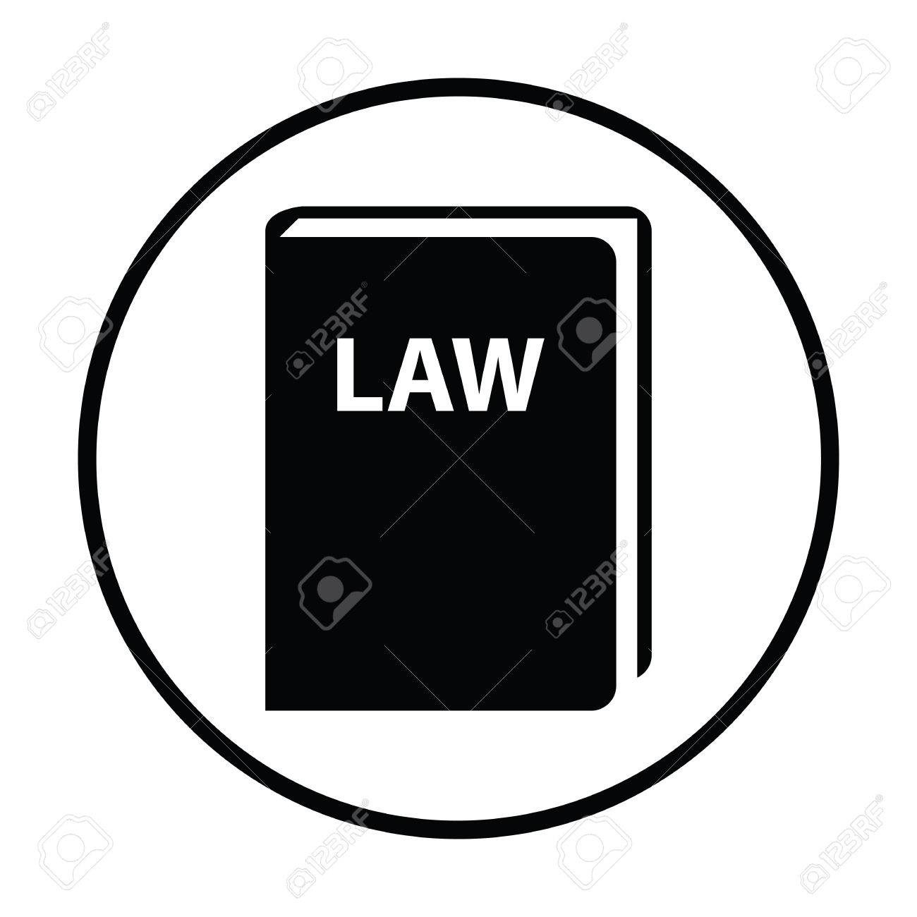 law book icon thin circle design vector illustration royalty free rh 123rf com book vector icon png open book vector icon free