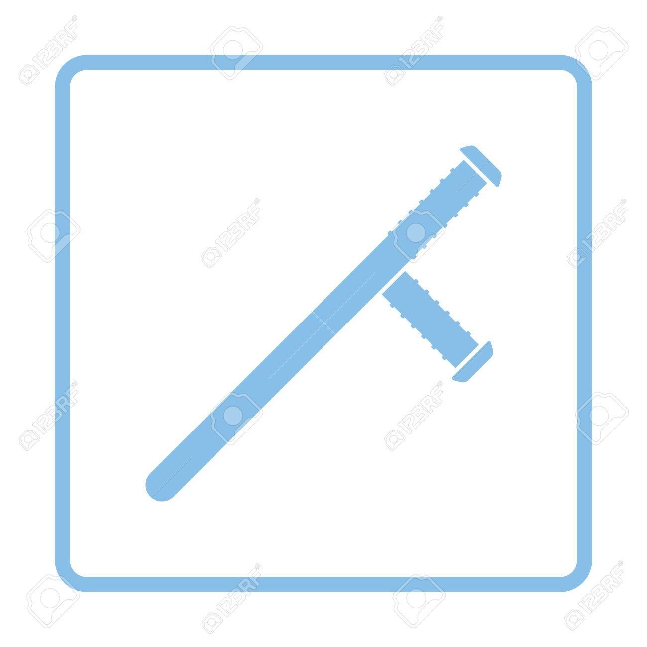 Icono De Porra De Policía. Diseño Del Marco Azul. Ilustración Del ...