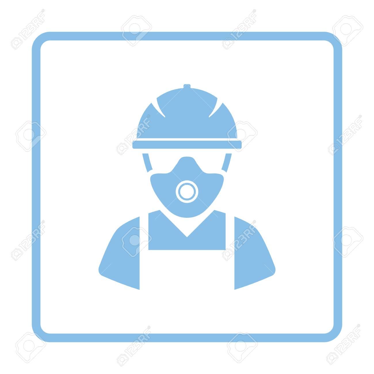 Icono De Trabajador De Reparación. Diseño De Marco Azul. Ilustración ...