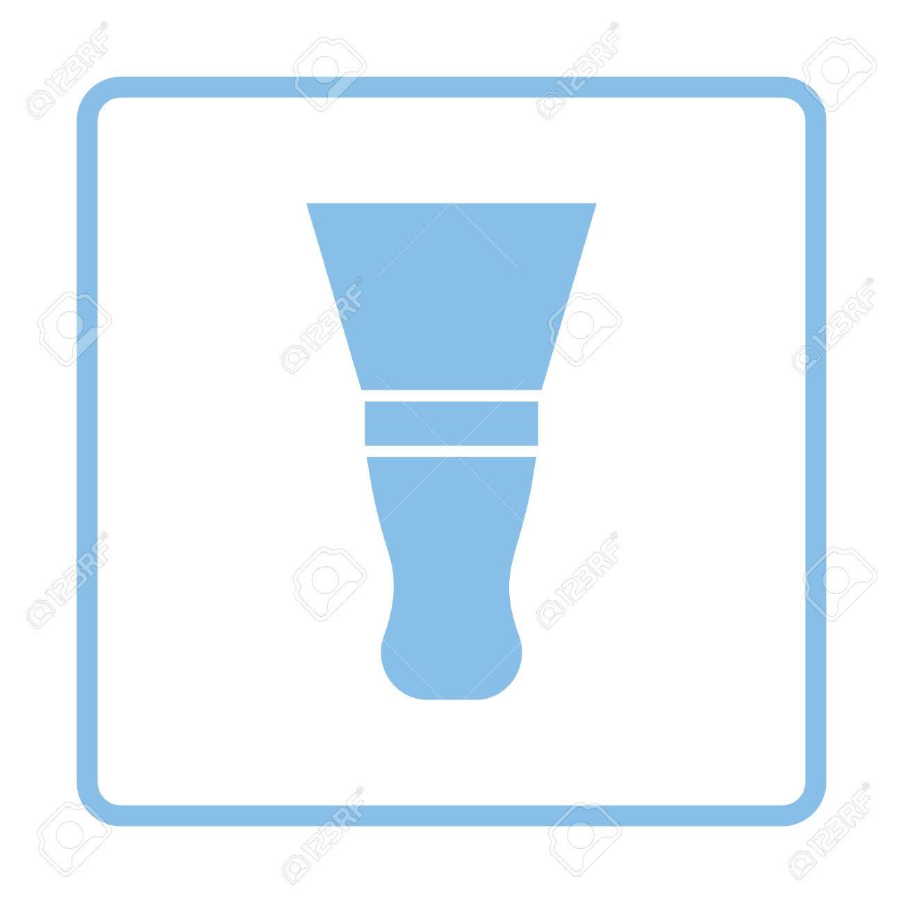Putty Knife Icon. Blue Frame Design. Vector Illustration. Royalty ...