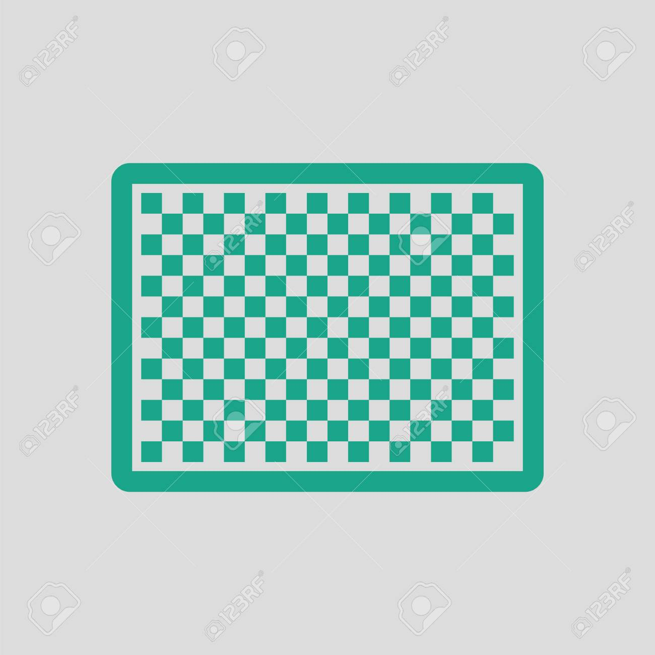 Icon Of Photo Camera Sensor. Gray Background With Green. Vector ...
