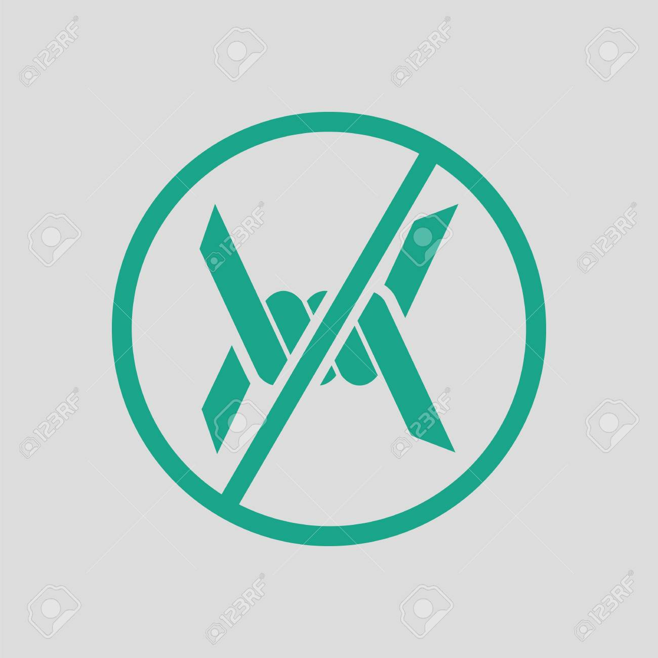 Barbed Wire Icon. Gray Background With Green. Vector Illustration ...