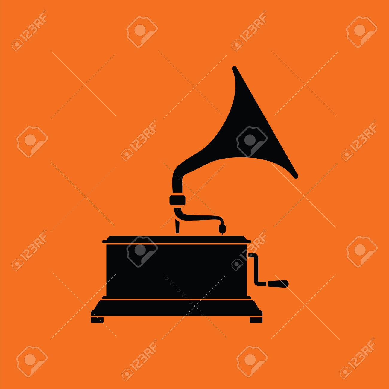 gramophone icon orange background with black vector illustration royalty free cliparts vectors and stock illustration image 63884406 gramophone icon orange background with black vector illustration royalty free cliparts vectors and stock illustration image 63884406