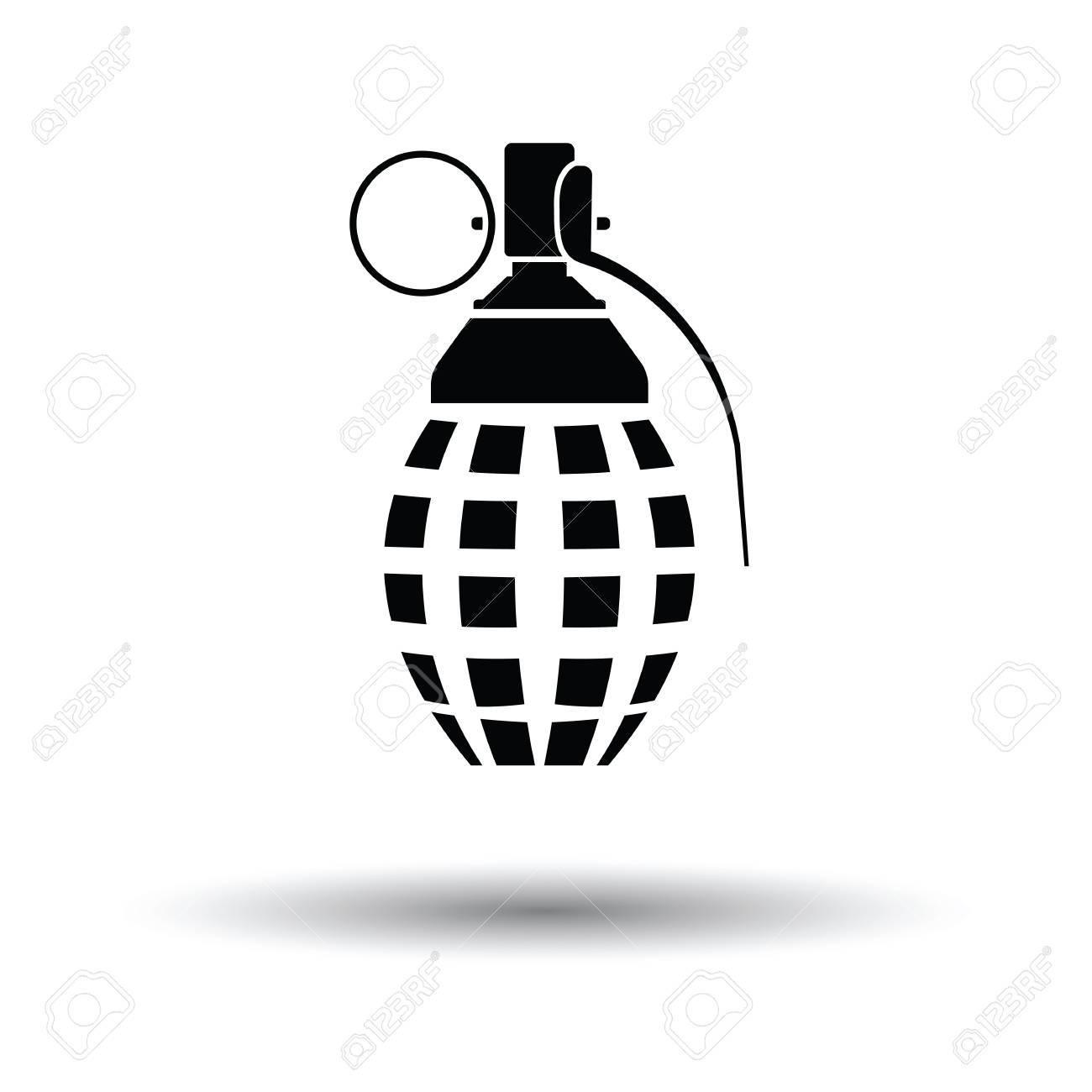 defensive grenade icon white background with shadow design rh 123rf com grenada vector diseases grenade vector png