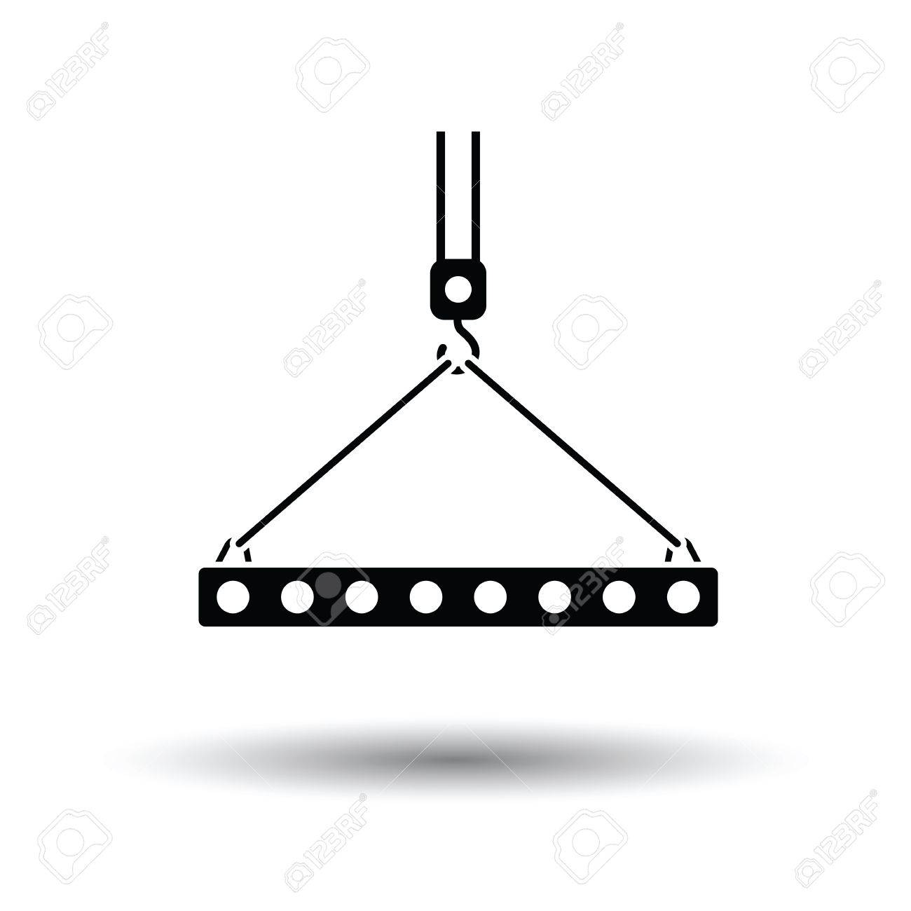 93 thin slab stock vector illustration and royalty free thin slab icon of slab hanged on crane hook by rope slings white background with shadow design publicscrutiny Images