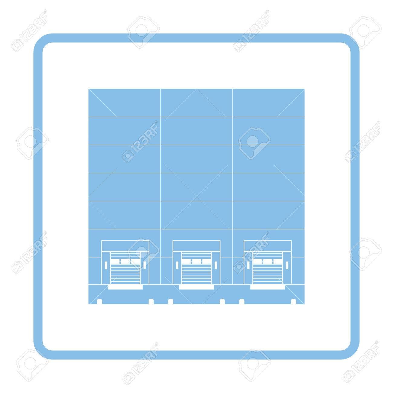 Icono De Concepto De Logística De Almacén. Diseño De Marco Azul ...
