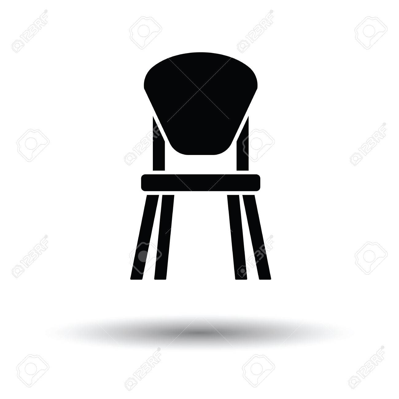 Child Chair Icon. White Background With Shadow Design. Vector ...