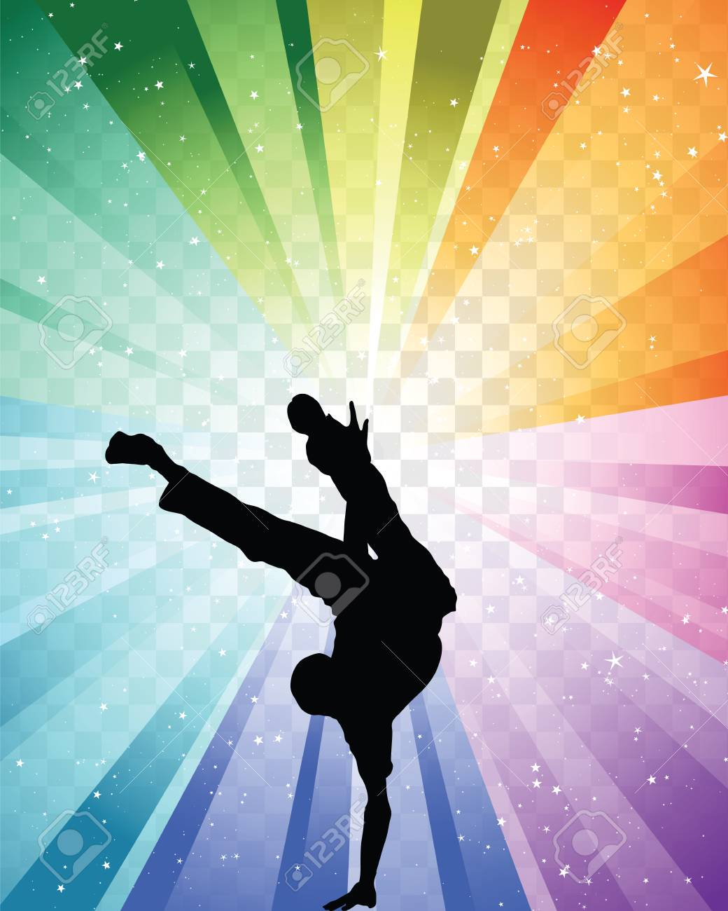 Hip Hop Dancer On Colorfull Background Vector Illustration With Royalty Free Cliparts Vectors And Stock Illustration Image 102632281