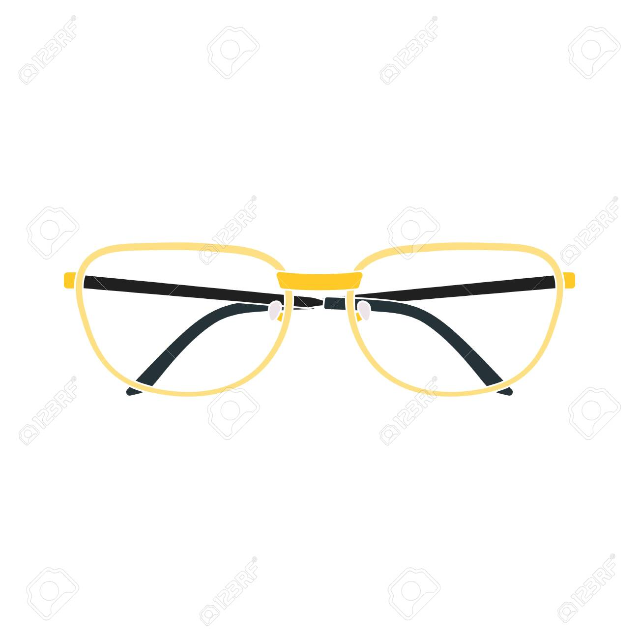 Glasses Icon. Flat Color Design. Vector Illustration. - 154502103