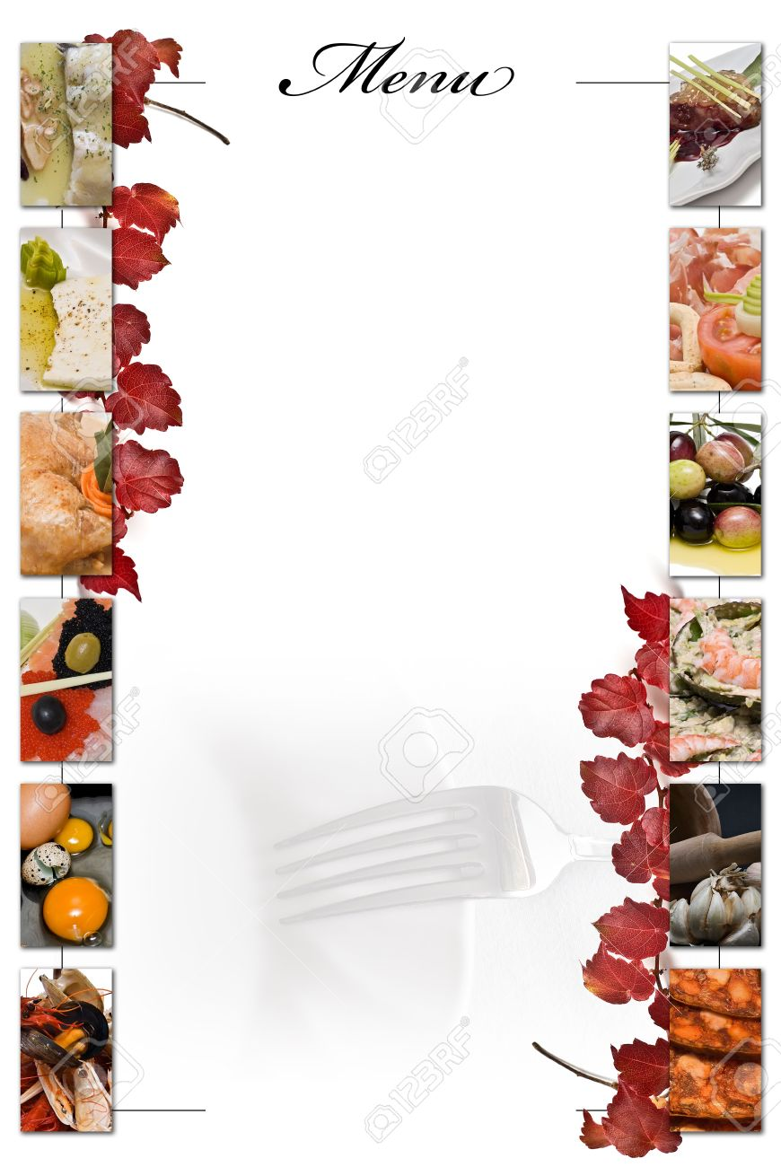 restaurant menu in blank to fill stock photo picture and royalty