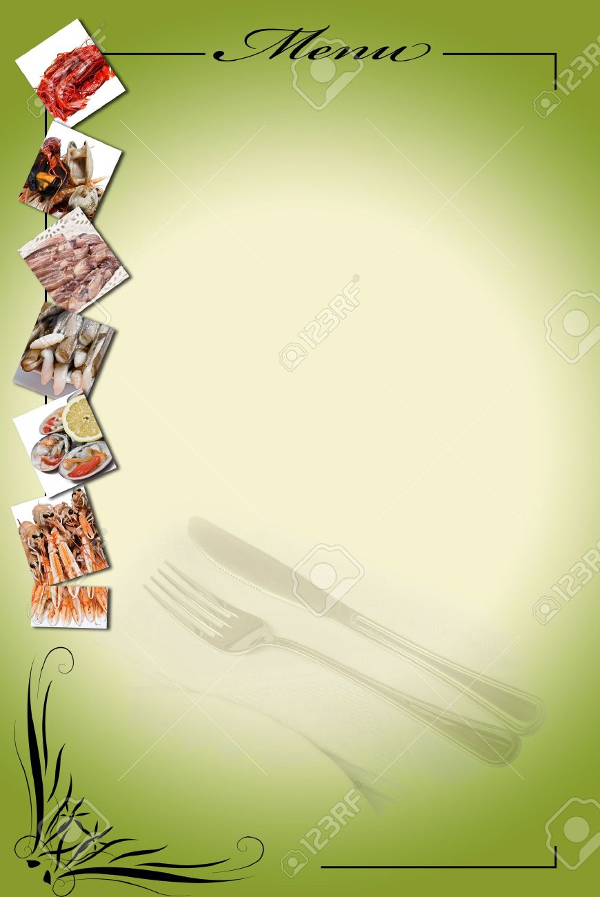 Menu Card For Restaurants Stock Photo