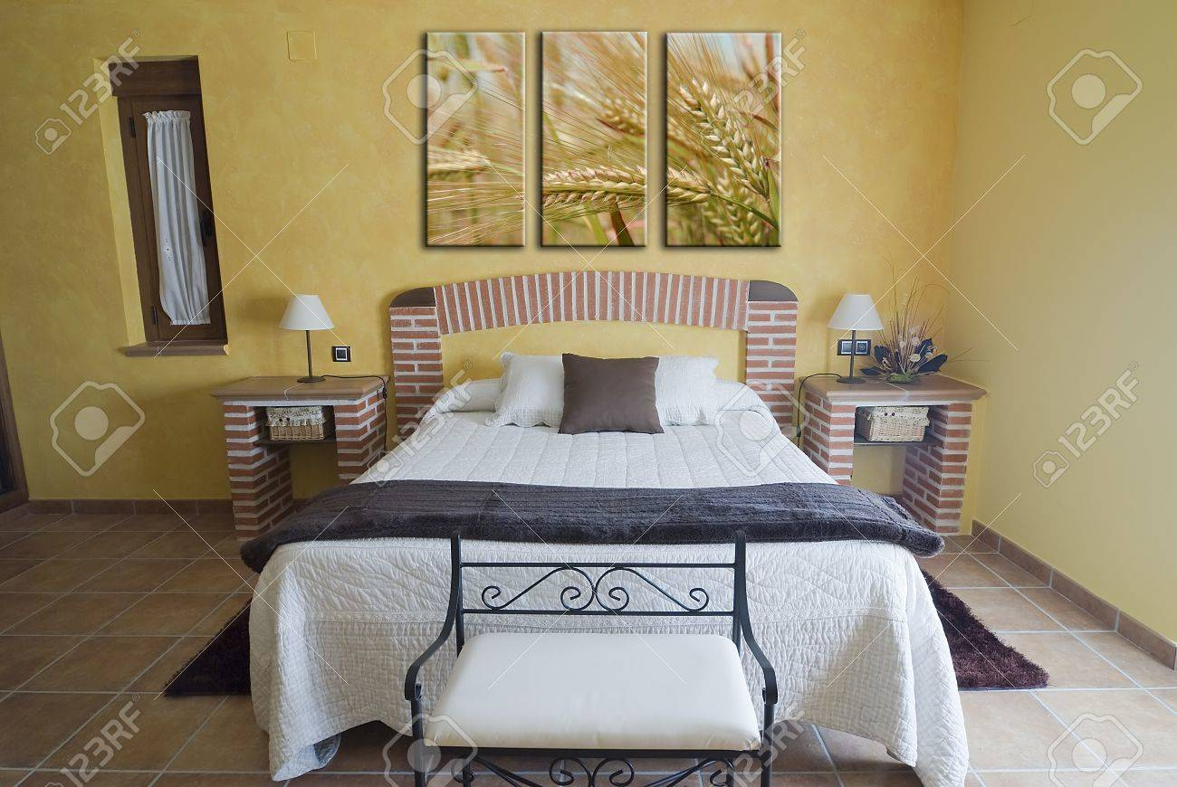 bricks furniture. a bedroom with some furniture made of bricks stock photo 9159528 o
