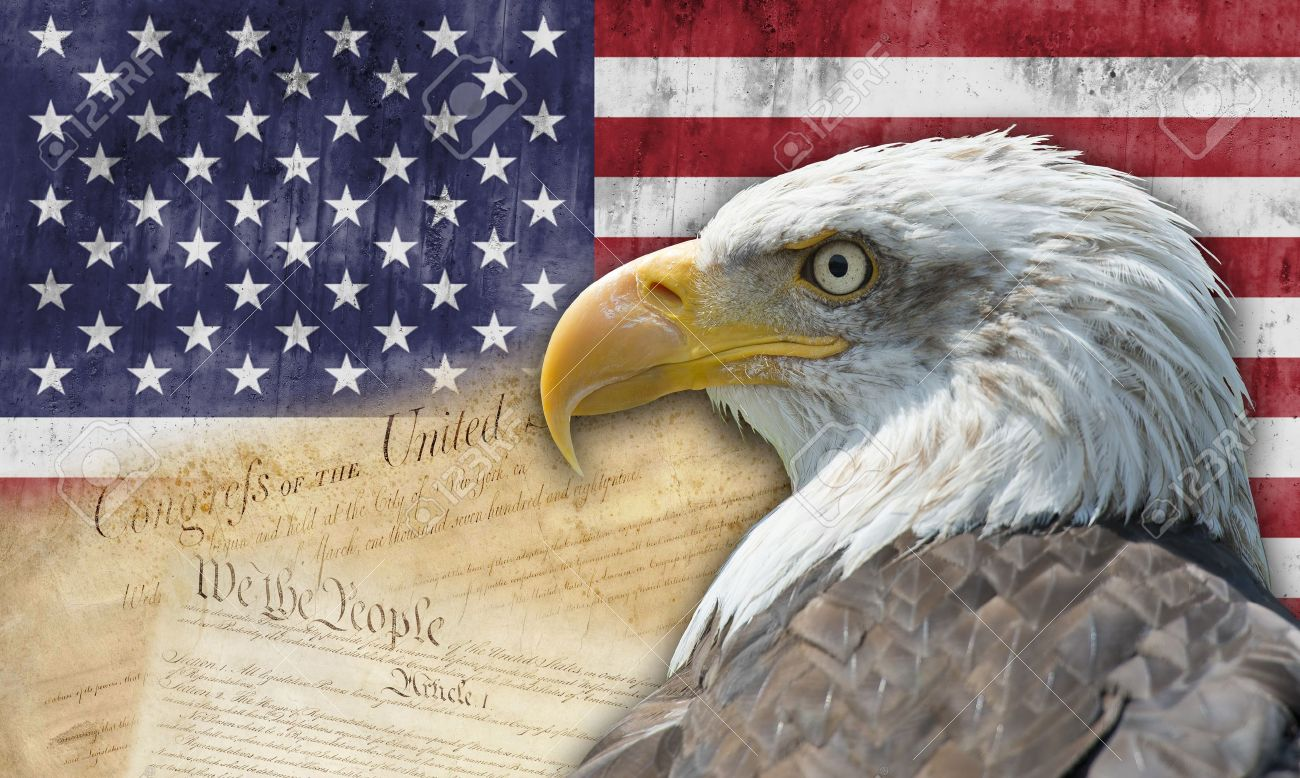 Uncategorized Bald Eagle American Flag american flag with the bald eagle and some historic documents stock photo 15323539