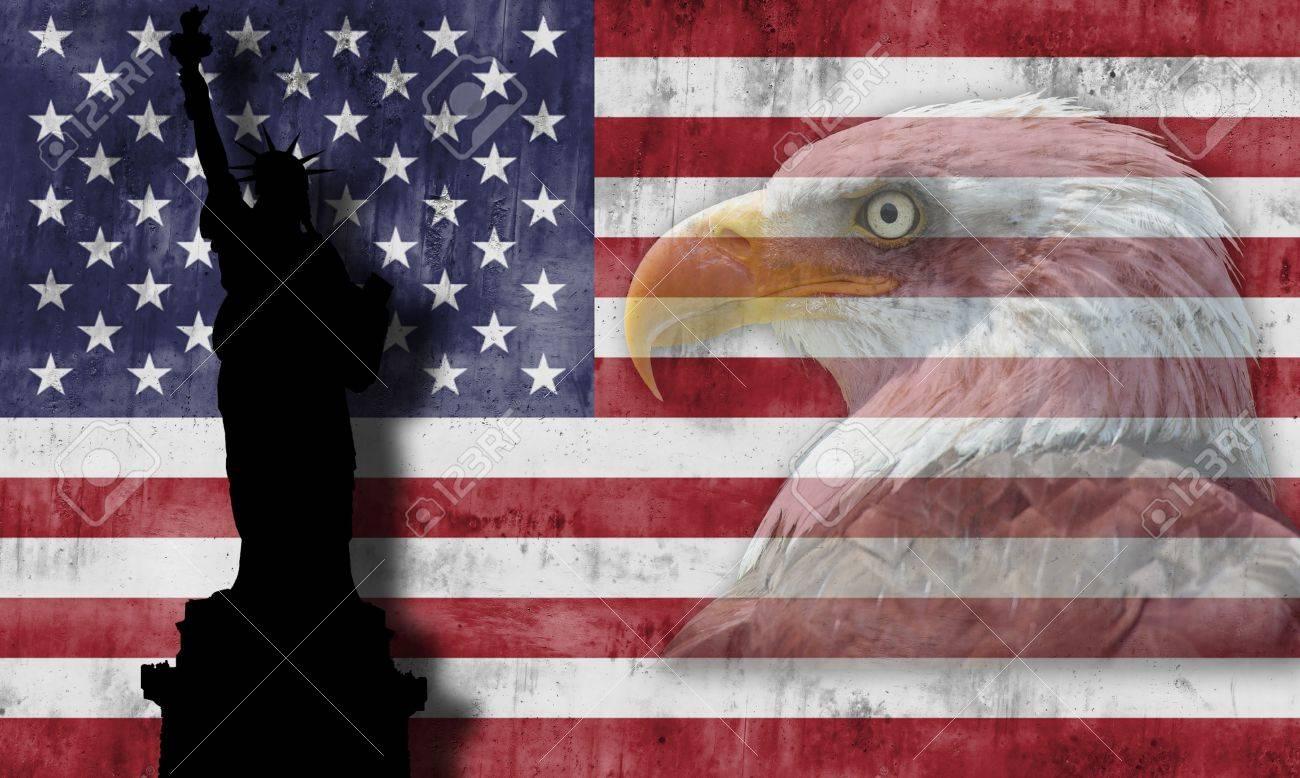 American flag with patriotic symbols of the united states of stock american flag with patriotic symbols of the united states of america stock photo 15601644 buycottarizona Choice Image