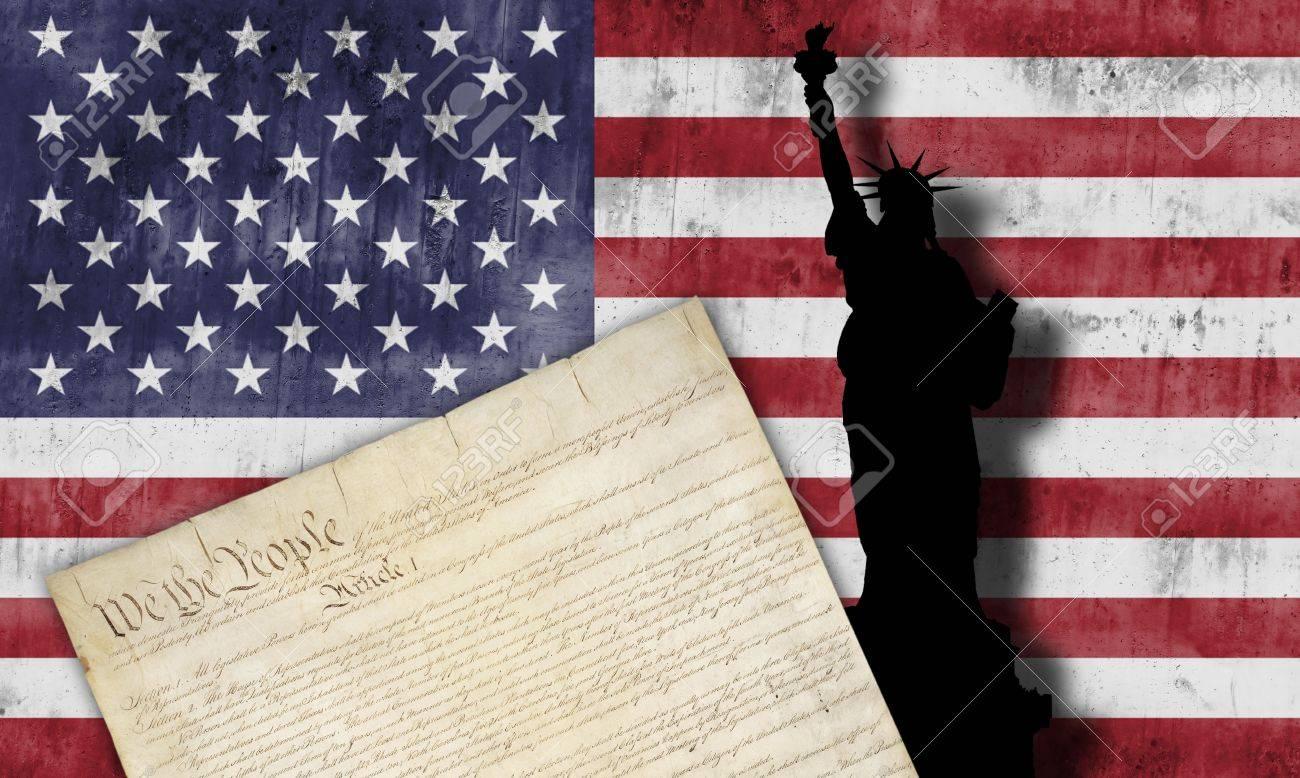 American flag with patriotic symbols of the united states of stock american flag with patriotic symbols of the united states of america stock photo 15601647 buycottarizona Choice Image