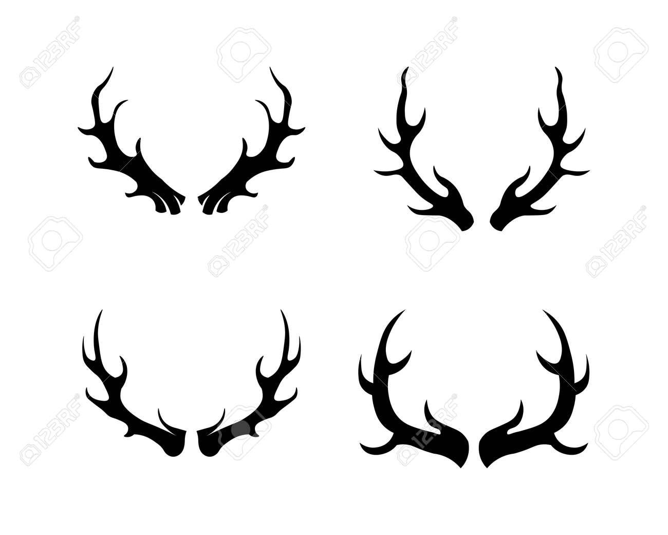 animal antler and deer vector design - 156995649
