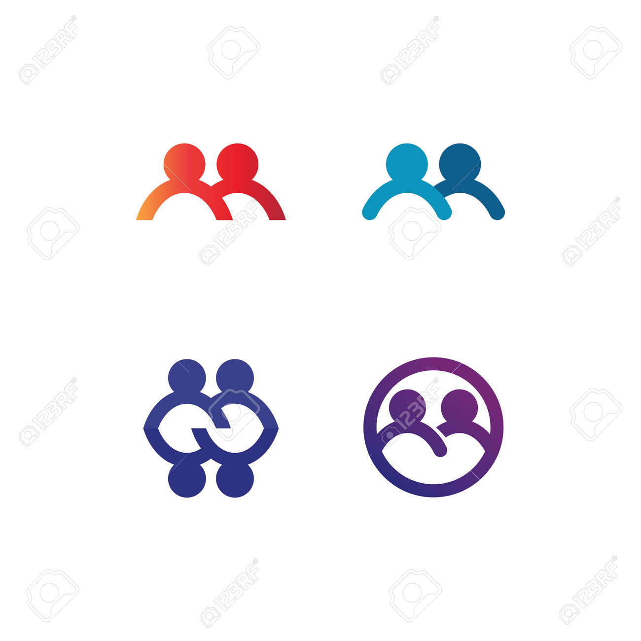People logo, Team, Succes people work, Group and Community, Group Company and Business logo vector and design Care, Family icon Succes logo - 169526591