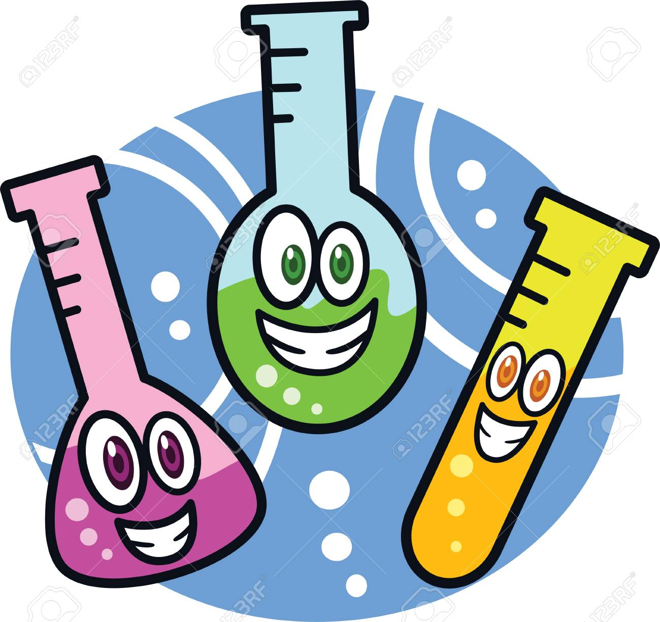Test Tube Cartoon Stock Vector 68370687