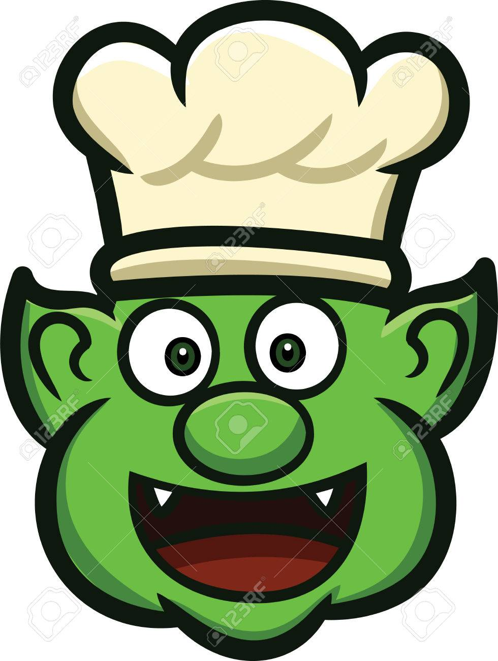 orc chef head cartoon royalty free cliparts vectors and stock rh 123rf com Cute Frog Silhouette Vector The Crocodile