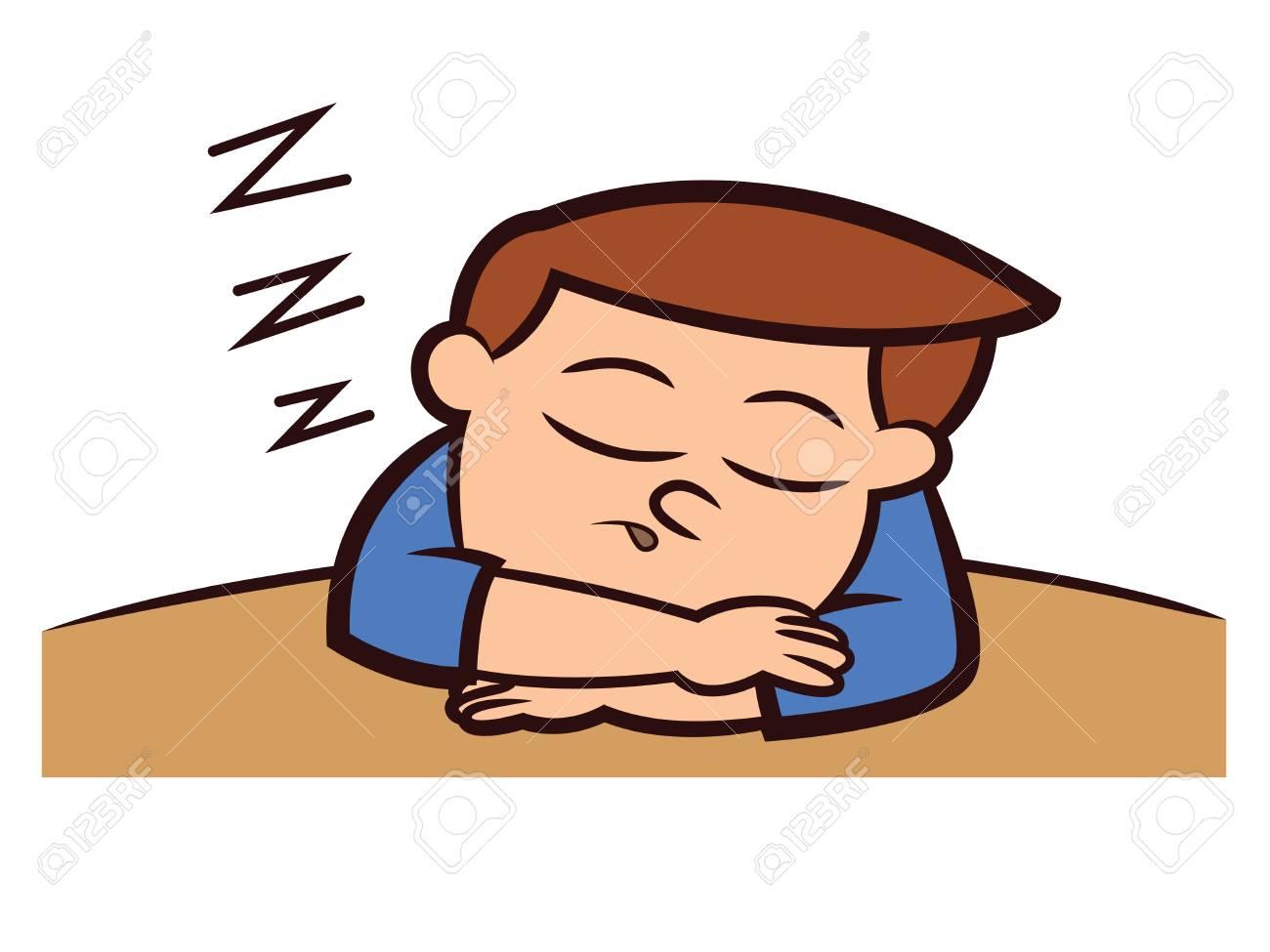 68544699-ni-c3-b1o-durmiendo-en-la-ilustraci-c3-b3n-de-dibujos-animados-de-mesa