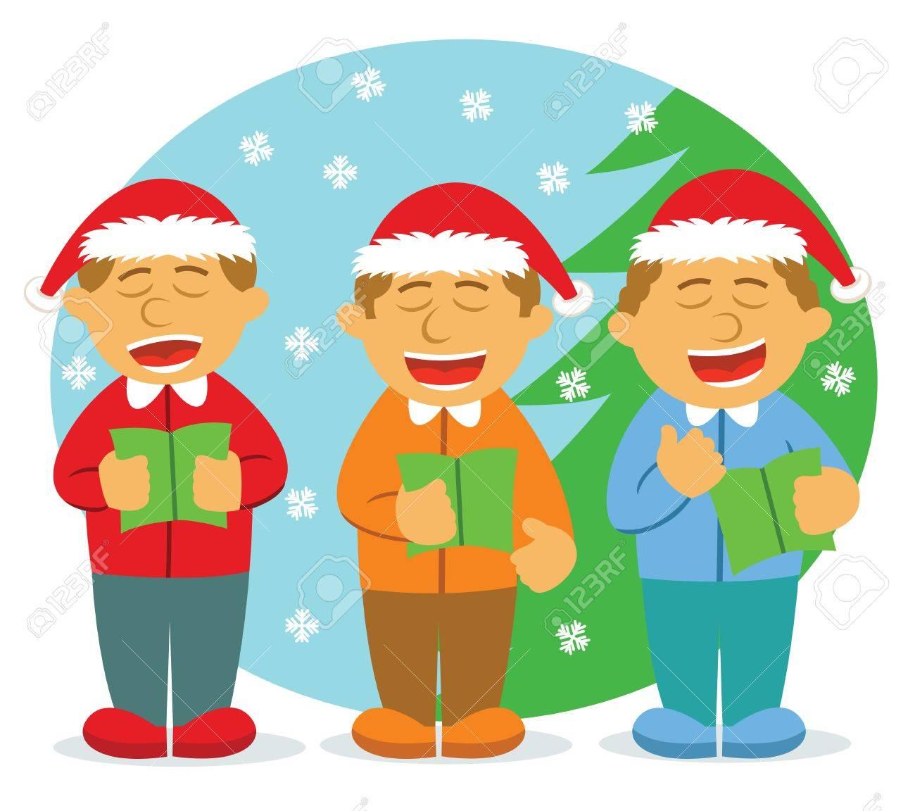 Männer Chor Singen Für Weihnachten Lizenzfrei Nutzbare ...