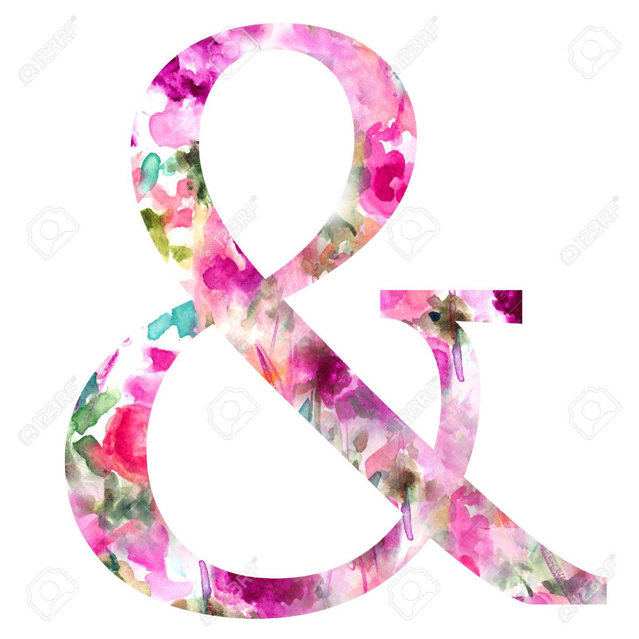 Watercolor Ampersand Images, Stock Pictures, Royalty Free