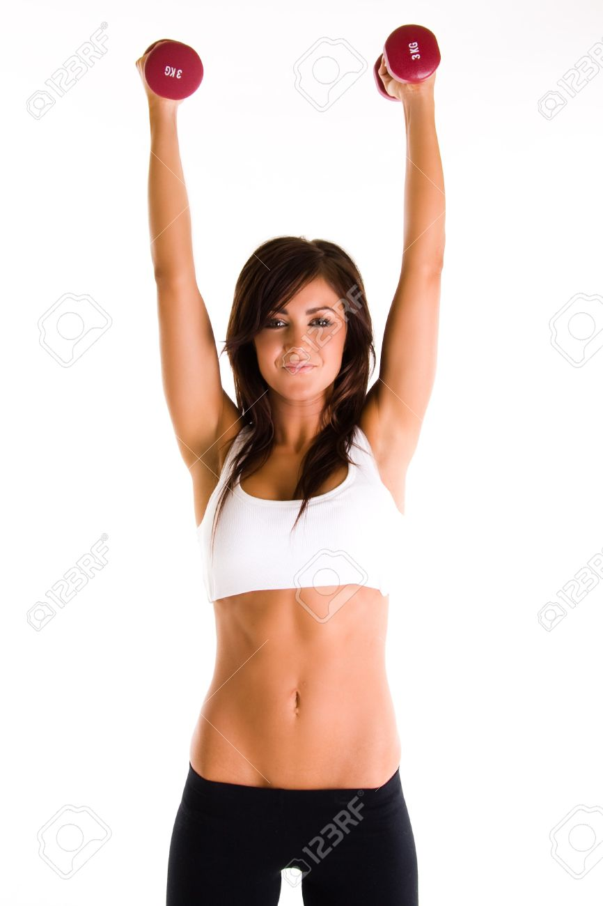 beauiful girl working out Stock Photo - 4427670