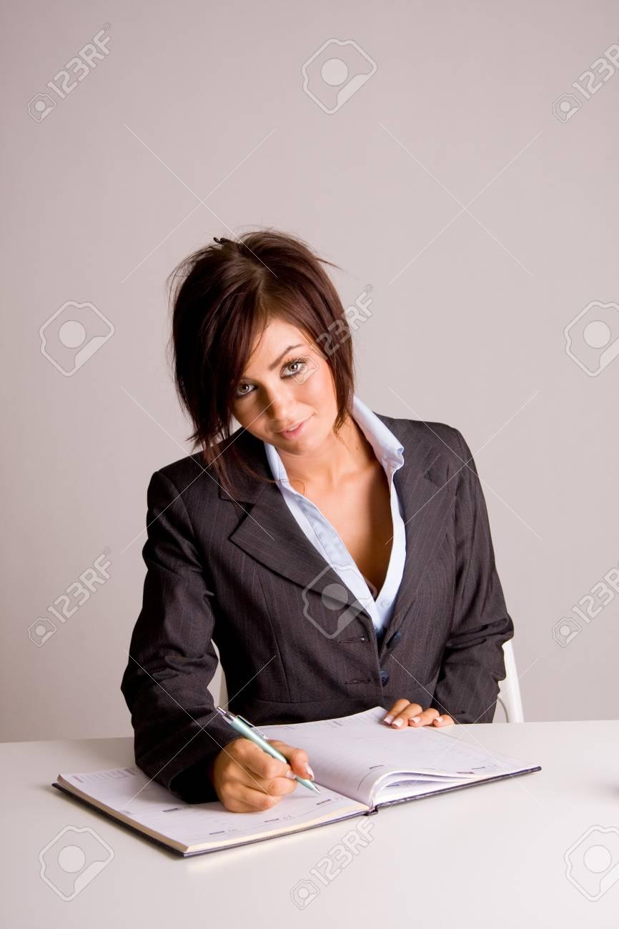 beautiful young business woman Stock Photo - 4427832