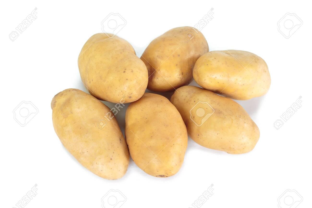 potato on white background. - 124257177