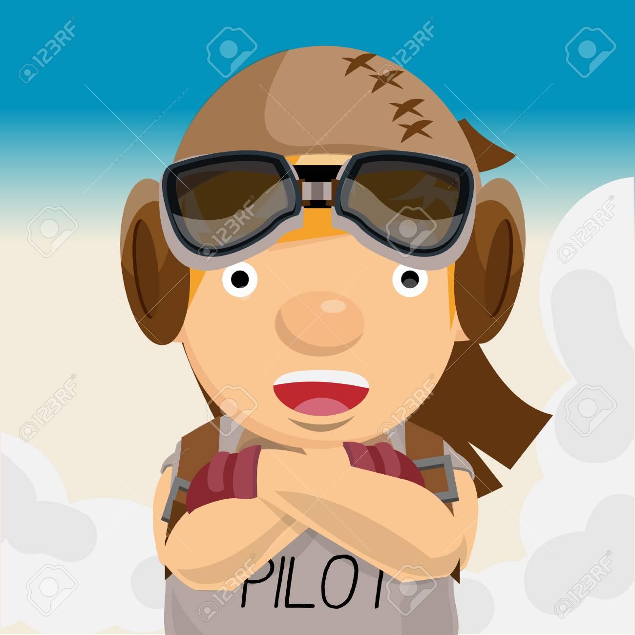 da998c1dad adventure man. pilot. aviation - vector illustration Stock Vector - 45203131