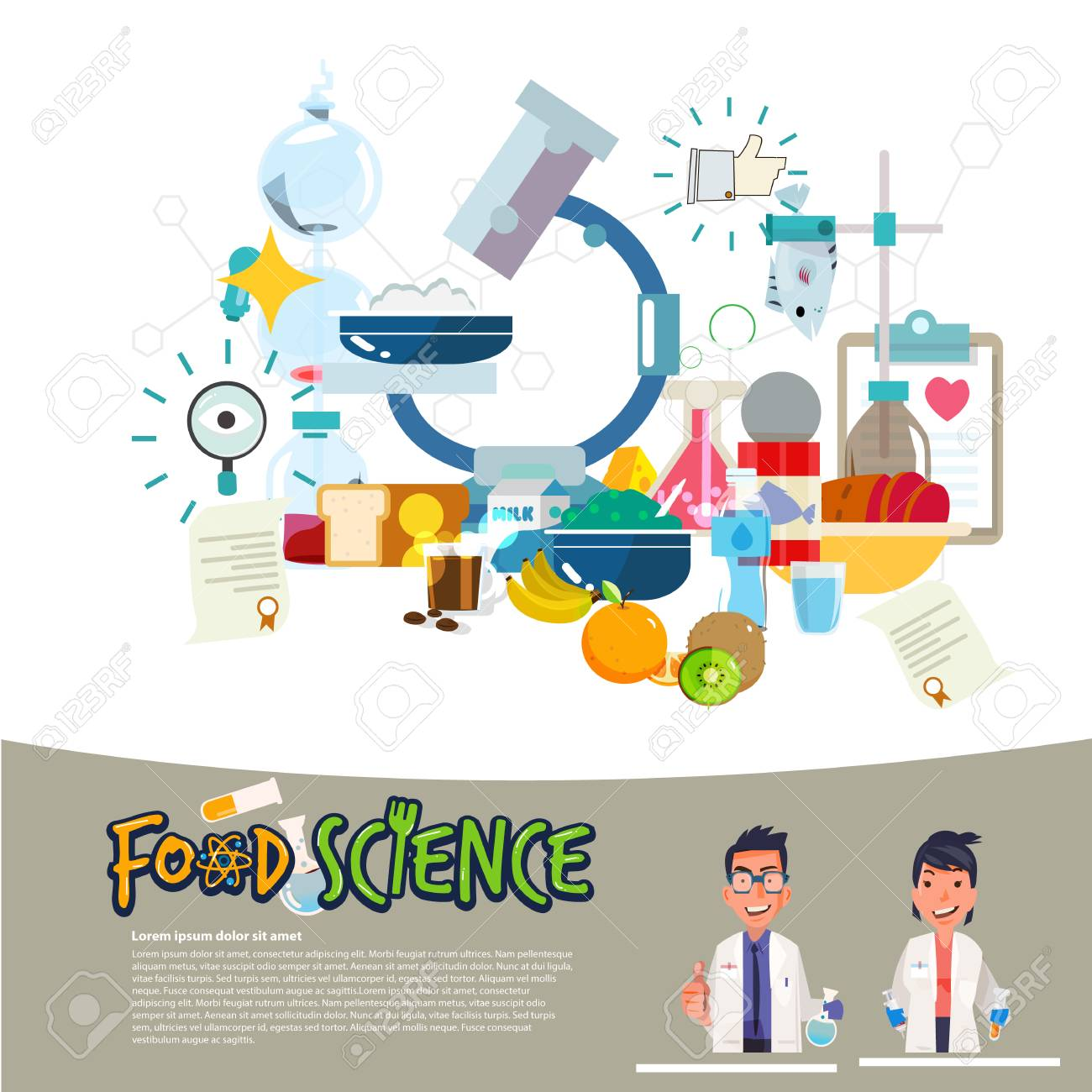food science concept food laboratory typographic with microscope royalty free cliparts vectors and stock illustration image 96839333 food science concept food laboratory typographic with microscope